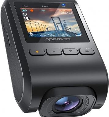 APEMAN-minikamera, piilotettu, 1080P Full HD DVR -autokamera, 170 ° laajakulma,  auton videonauhuri G-anturilla, pysäköinnin valvonta